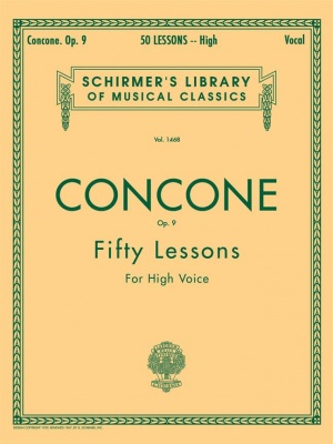 50 Lessons, Op. 9 for High Voice - Concone
